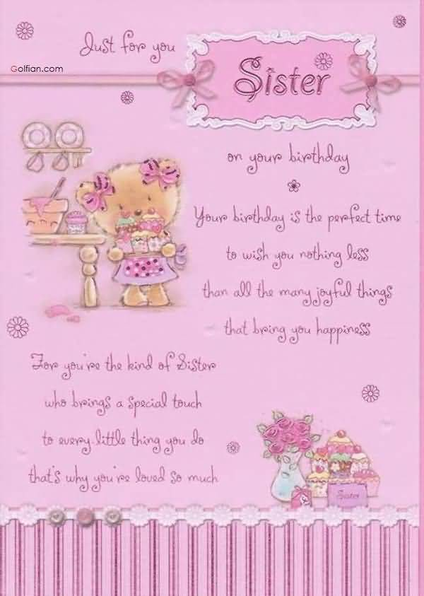 Funny little sister birthday sayings picture