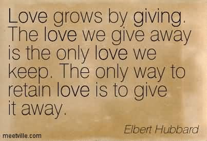 Giving Love Quotes 07