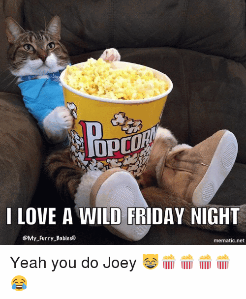 I Love A Wild Friday Night Yeah You Do Joey