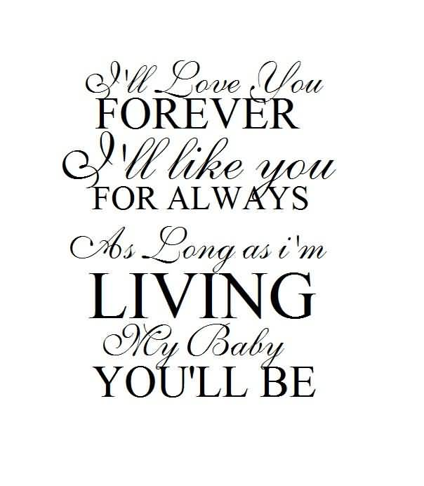 I Love You Forever I Like You For Always Quote 60 QuotesBae Delectable I Love You Forever I Like You For Always Quote