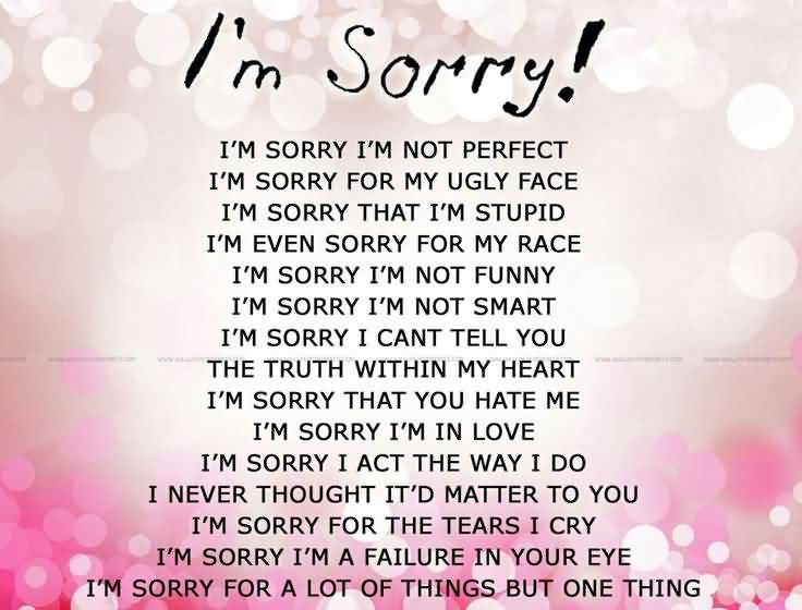 20 I M Sorry Love Quotes For Her With Deep Meaning | QuotesBae