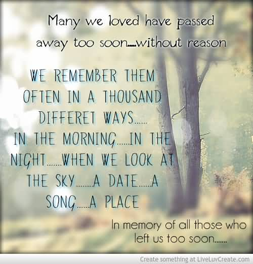 In Remembrance Quotes Of A Loved One 11
