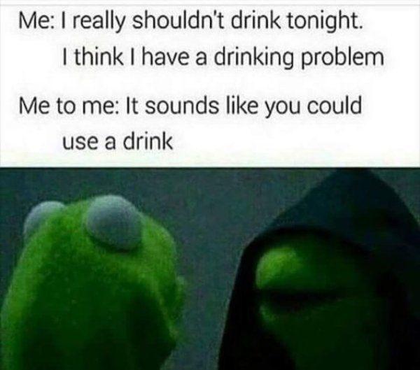 No alcohol meme photo