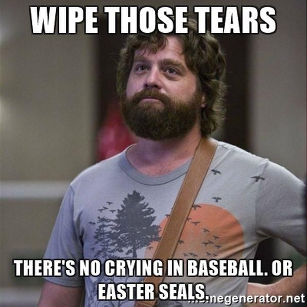 No crying in baseball memes photo