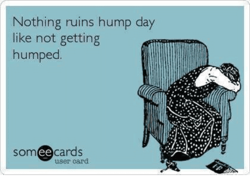 Nothing Ruins Hump Day Like Not Getting Humped