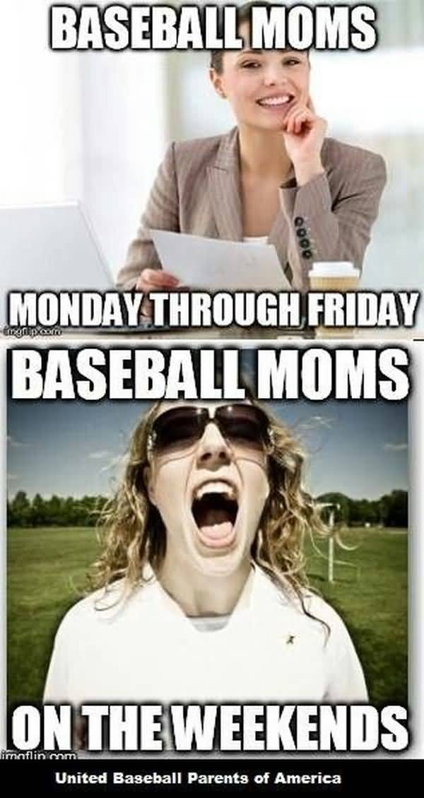 True about baseball mom meme photo