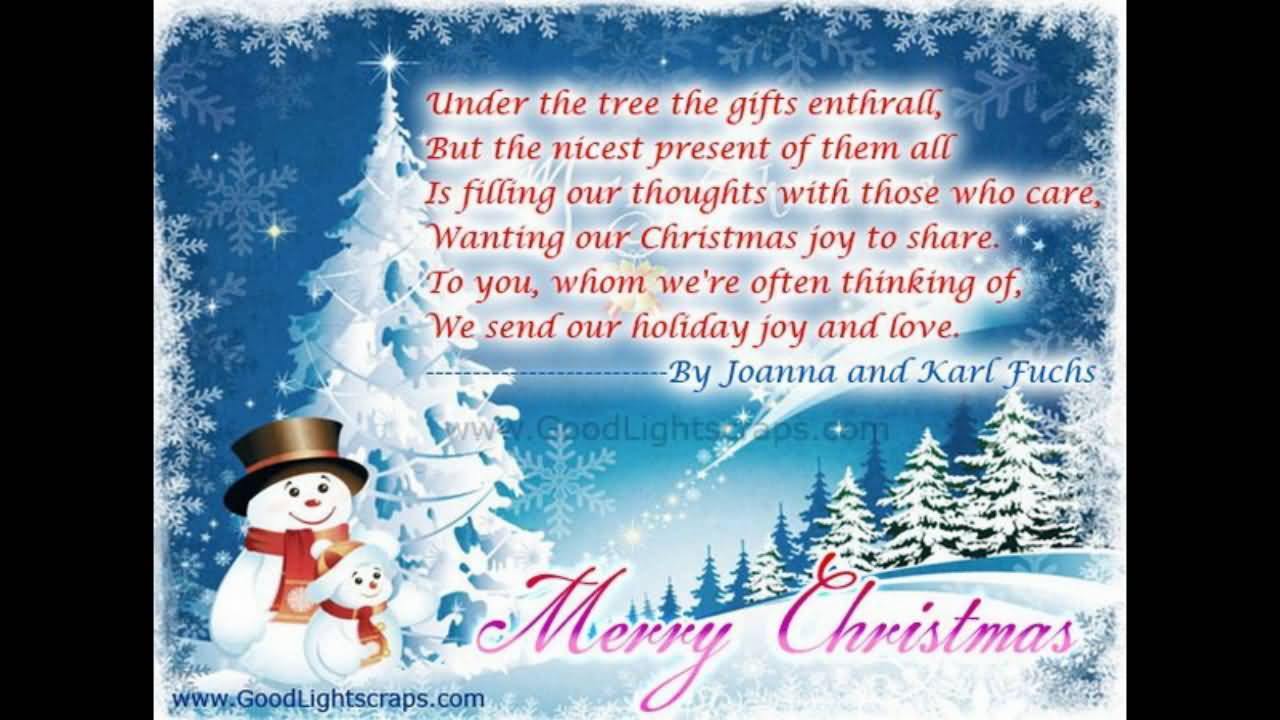 Christmas Poems Image Picture Photo Wallpaper 17