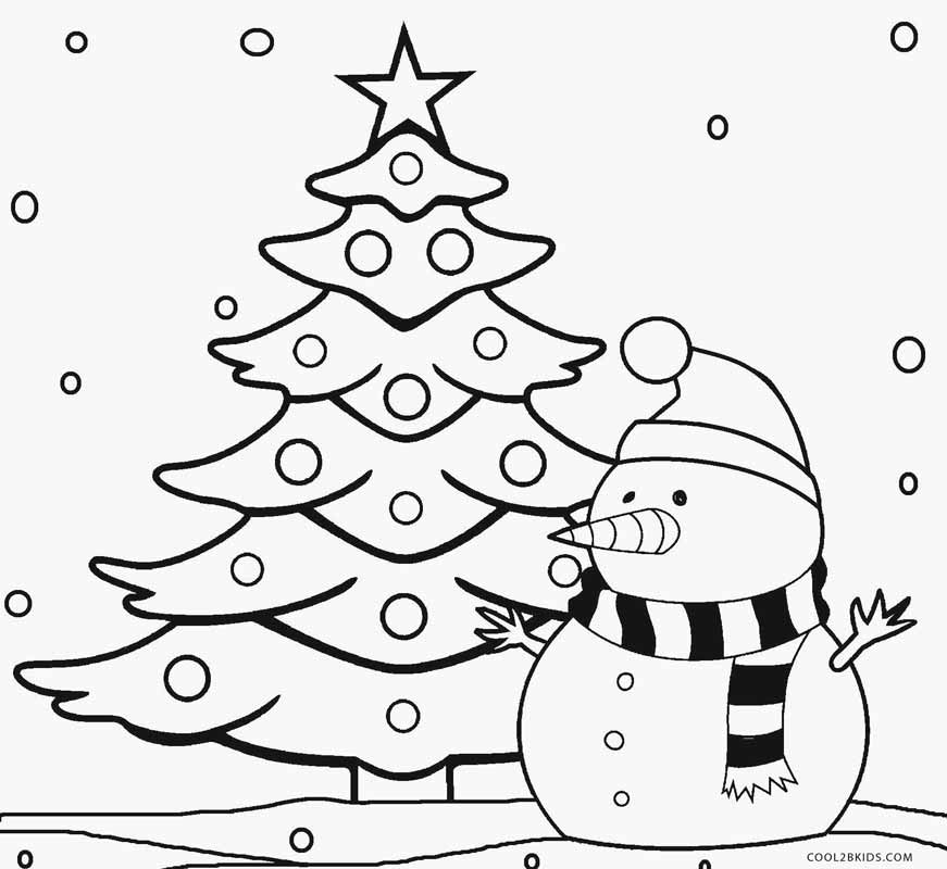 Christmas Tree Coloring Pages Image Picture Photo Wallpaper 04