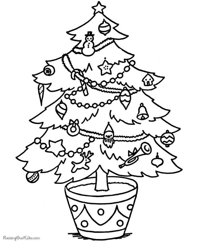 Christmas Tree Coloring Pages Image Picture Photo Wallpaper 07