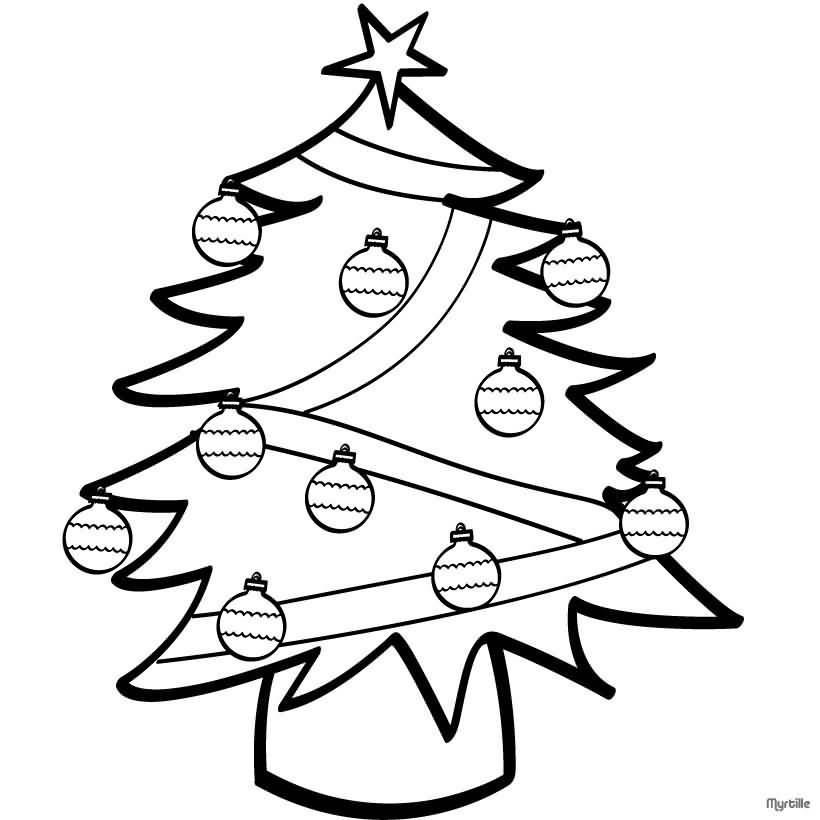 Christmas Tree Coloring Pages Image Picture Photo Wallpaper 09