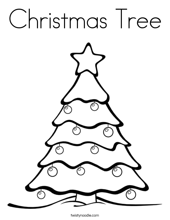 Christmas Tree Coloring Pages Image Picture Photo Wallpaper 10