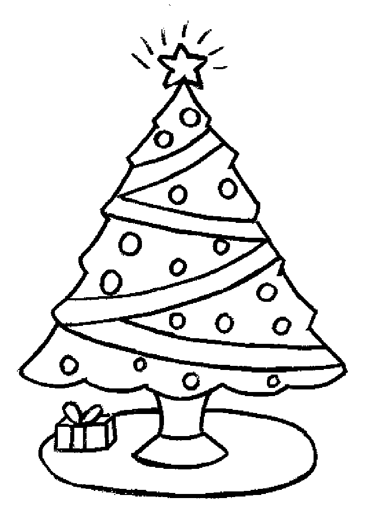 Christmas Tree Coloring Pages Image Picture Photo Wallpaper 14