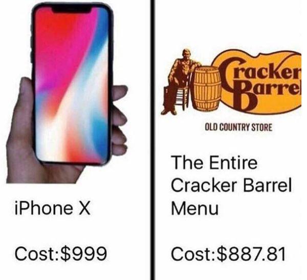 Funniest Iphone X Price Meme Image