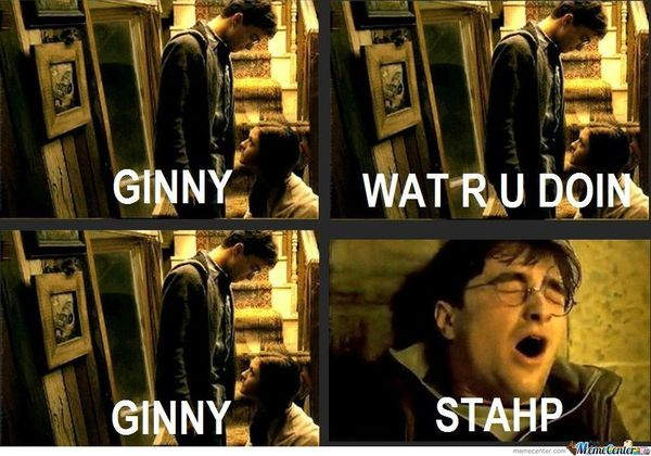 Funniest harry potter and ginny memes image