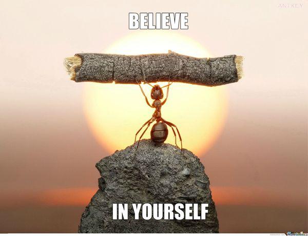 Funny Believe in Yourself Motivation Meme Joke