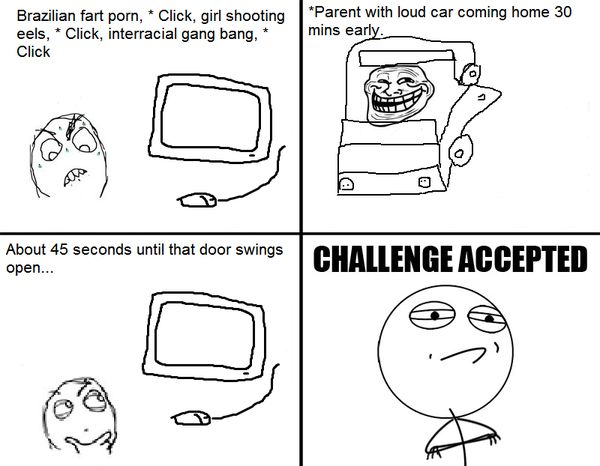 Funny Challenge Accepted Comics Graphic