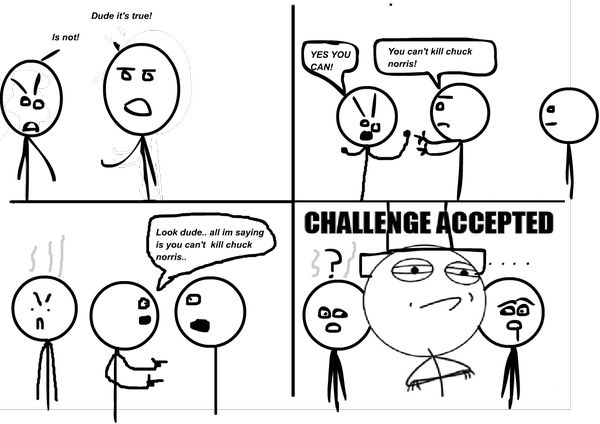 Funny Challenge Accepted Meme Face Images