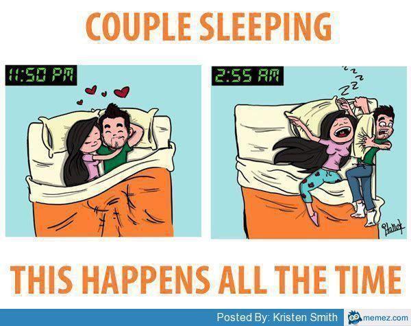 Funny Couples Sleeping Meme Photo