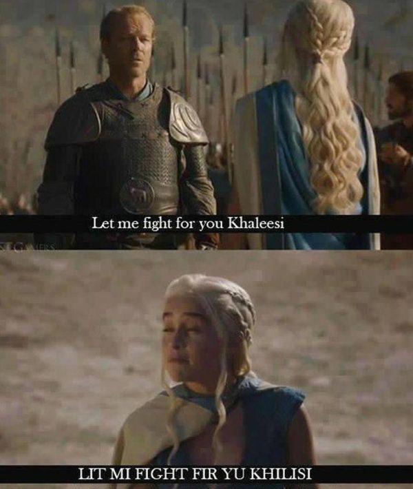 Funny Game of Thrones Daenerys Meme Joke