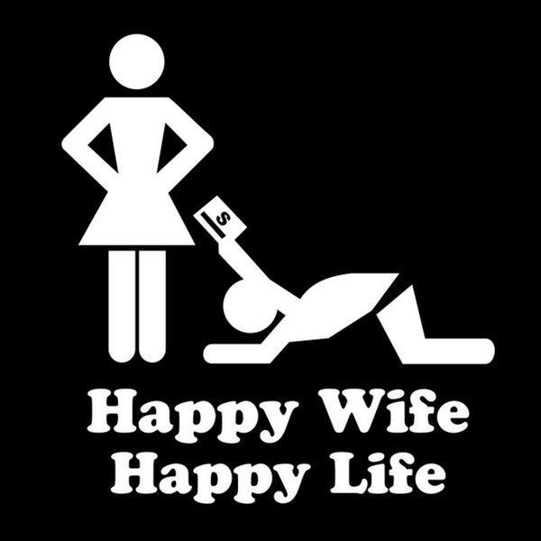 Funny Happy Wife Happy Life Meme