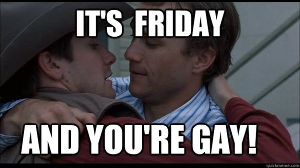 Funny Its Friday and You are Gay Meme graphics