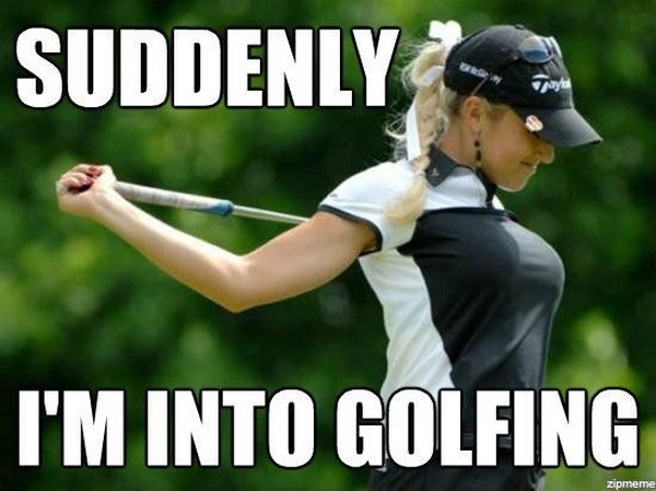 Funny amazing cool humorous golf memes image