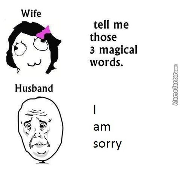 Funny amazing husband wife meme photo