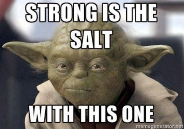 Funny best feeling salty meme image