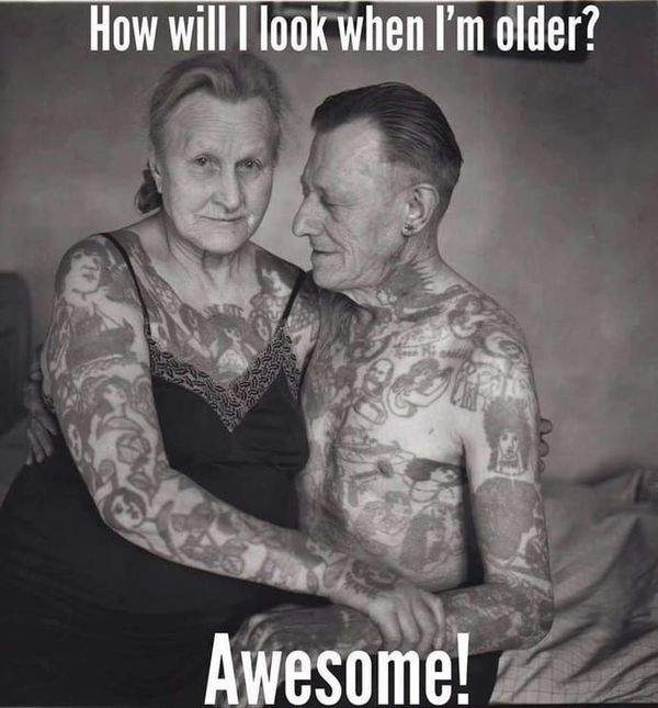 Funny best old man tattoo meme images