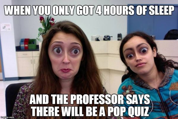Funny college sleep meme photo