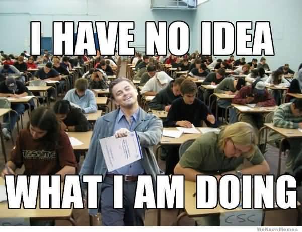 Funny college test meme joke