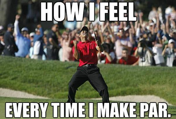 Funny common cool humorous golf memes image