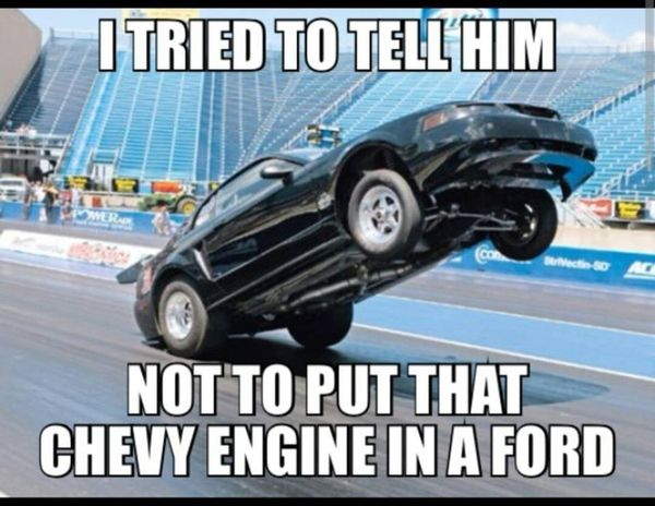 Funny cool chevy vs ford memes photo