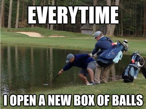 Funny cool humorous golf memes photo
