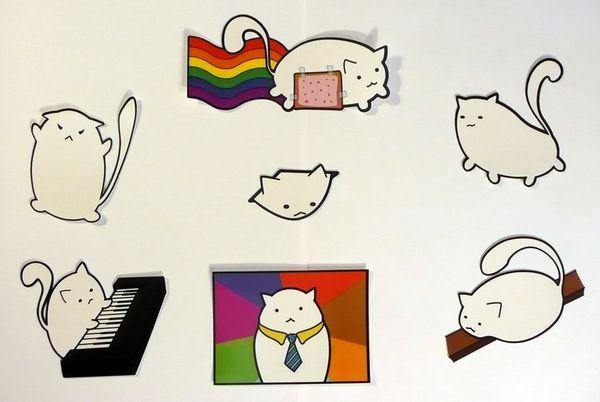 Funny fat cat cartoon meme photo