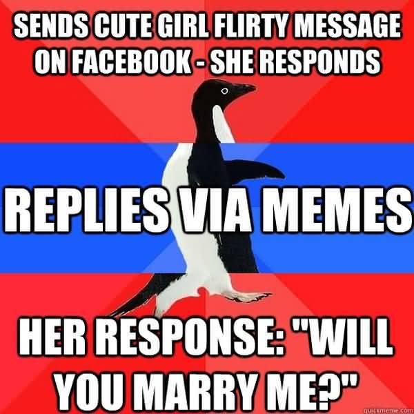 Funny flirty memes for her image