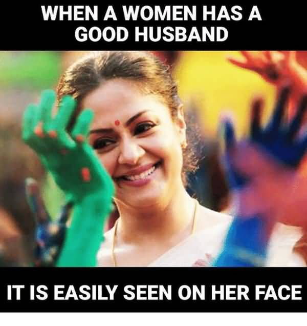 Funny good husband meme image