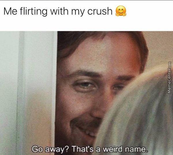 Funny me flirting meme image