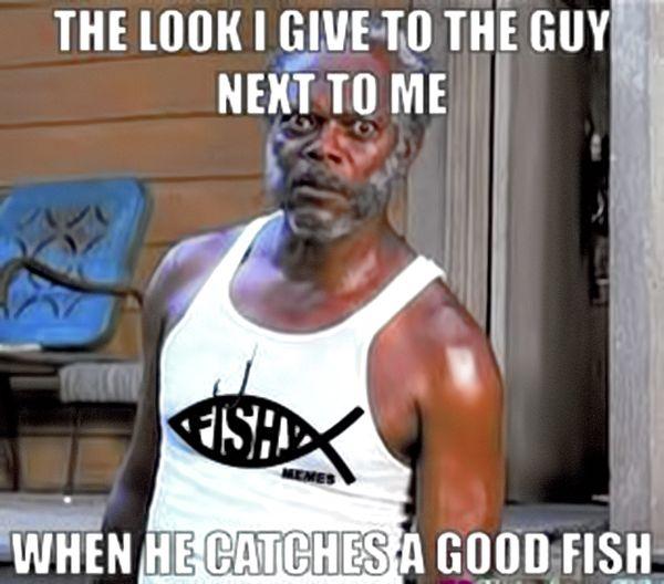 Funny silly fishing meme joke
