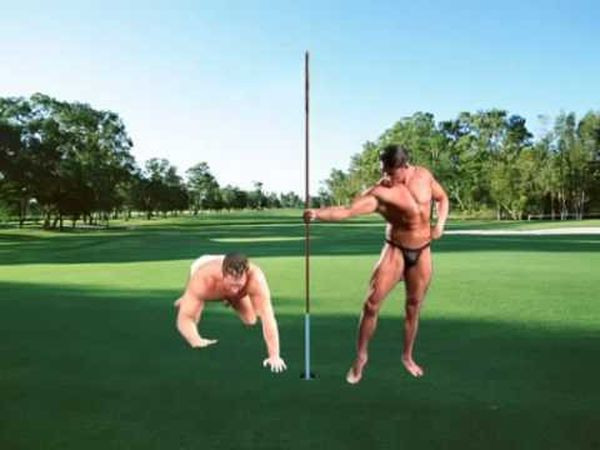 Funny silly gay golf jokes image