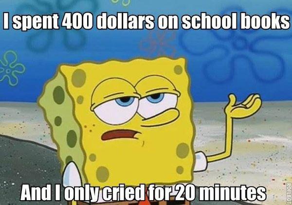 Funny spongebob college meme image