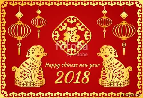 Happy Chinese New Year 2018 Cards Image Picture Photo Wallpaper 03