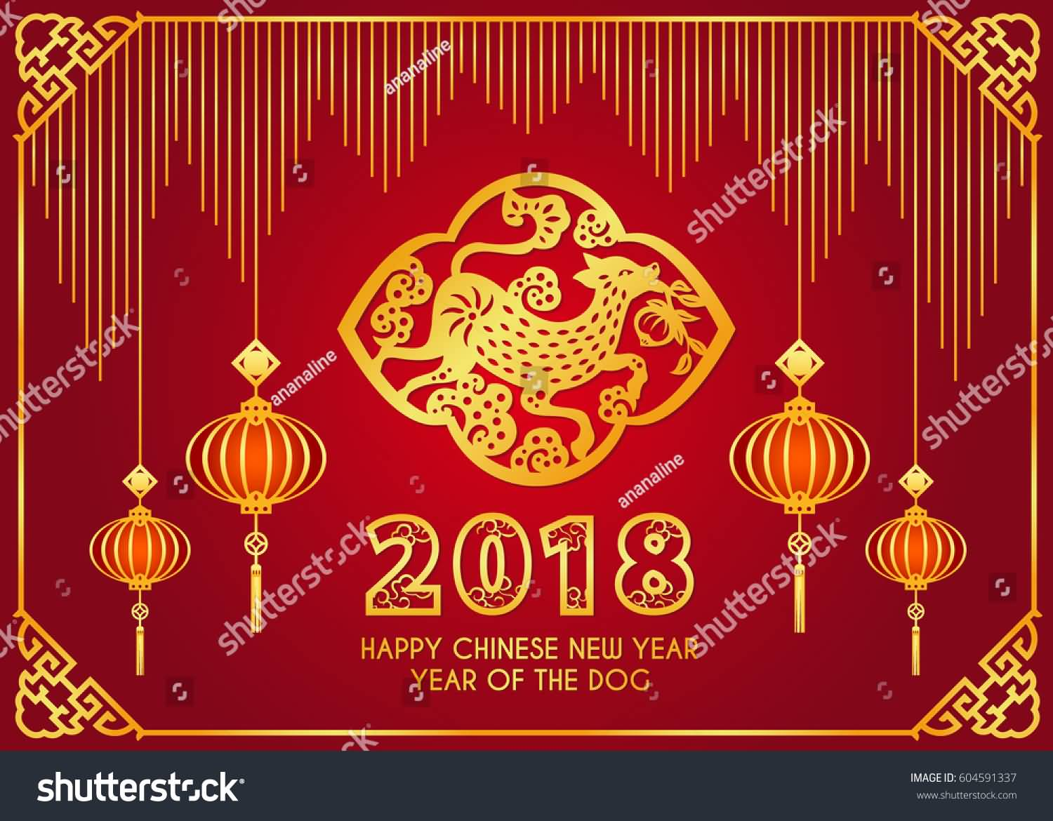 Happy Chinese New Year 2018 Cards Image Picture Photo Wallpaper 07