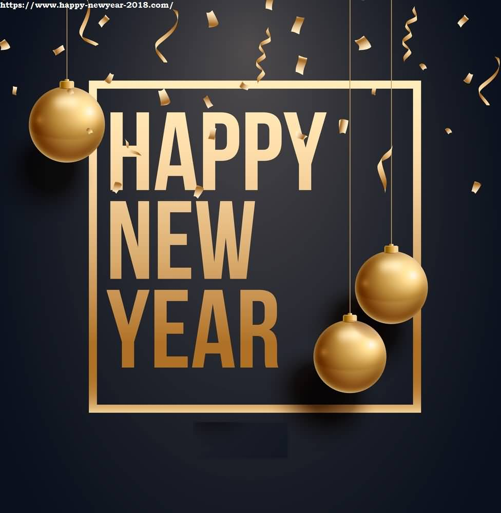 Happy New Year 2018 Cards Image Picture Photo Wallpaper 01