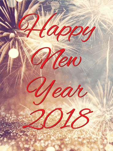 Happy New Year 2018 Cards Image Picture Photo Wallpaper 02