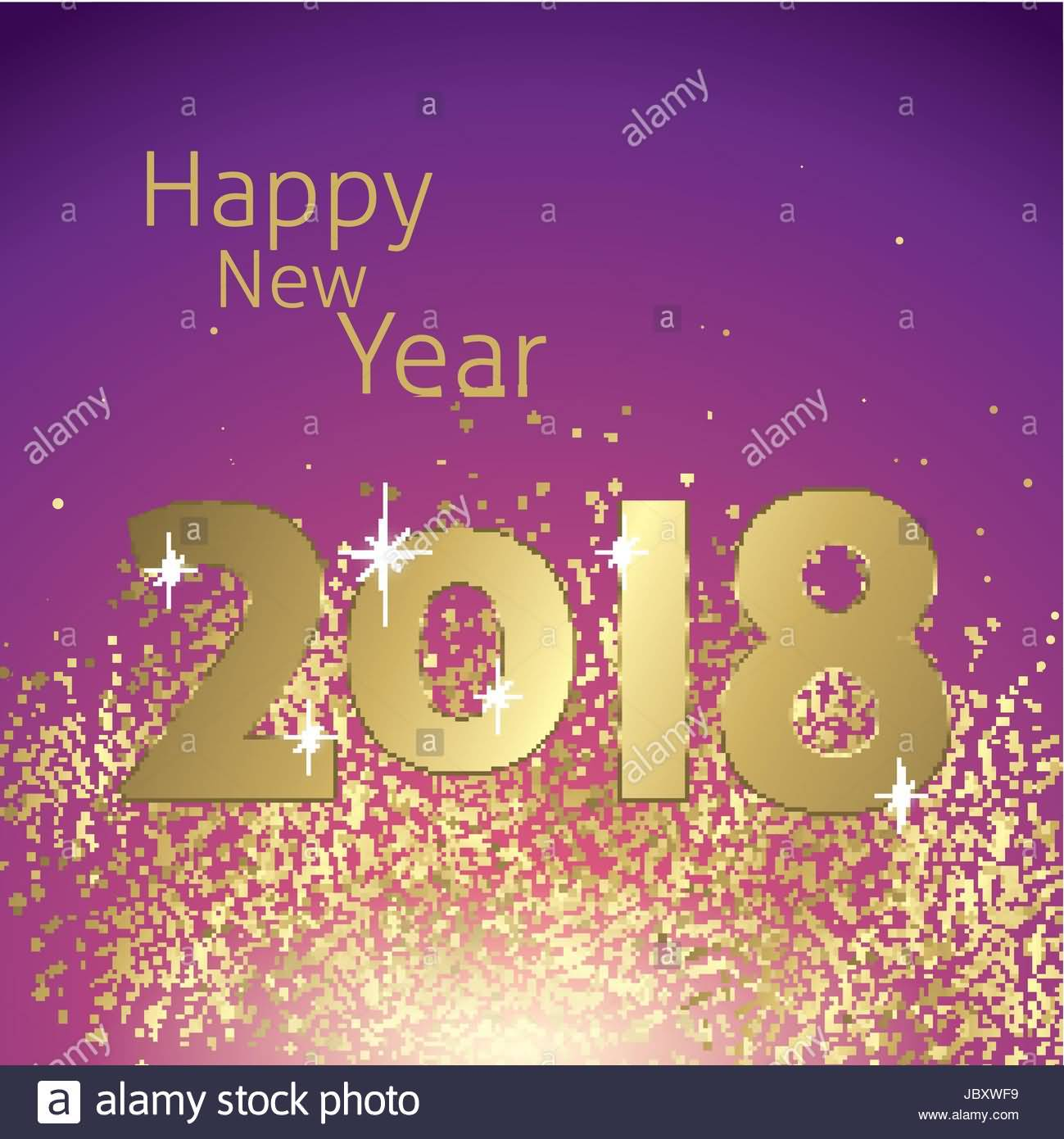 Happy New Year 2018 Cards Image Picture Photo Wallpaper 03