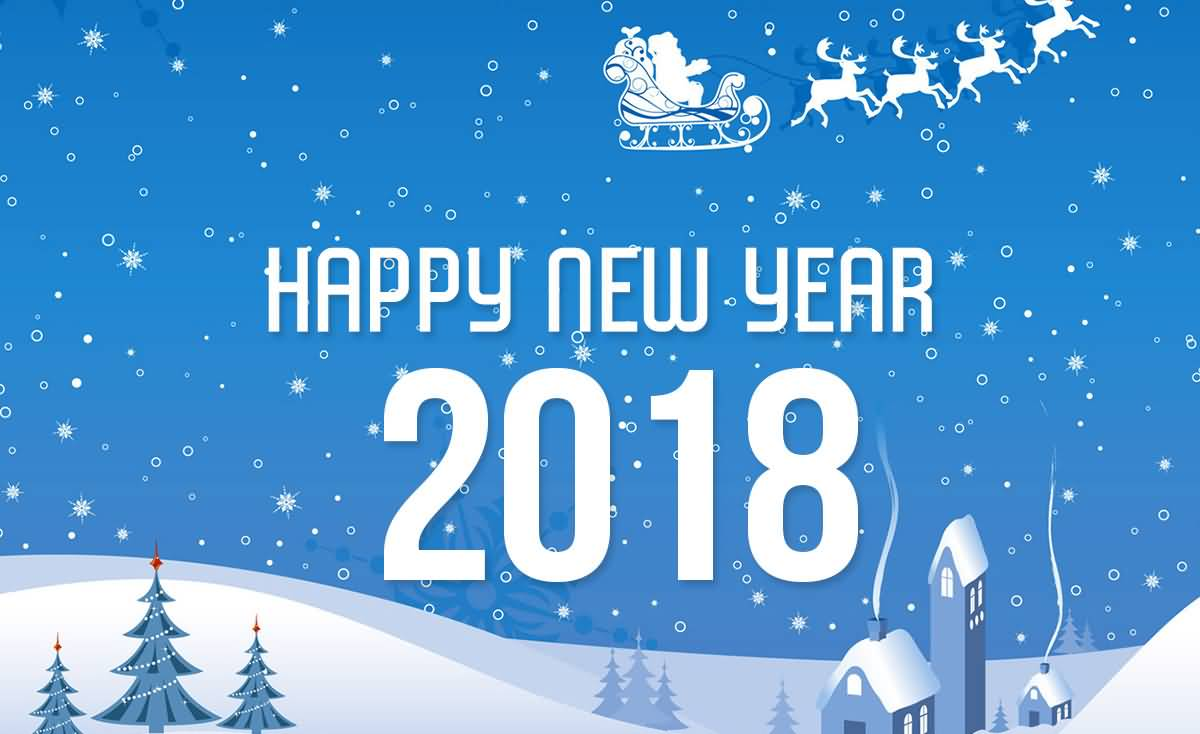 Happy New Year 2018 Cards Image Picture Photo Wallpaper 08