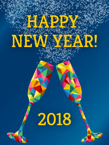 Happy New Year 2018 Cards Image Picture Photo Wallpaper 09