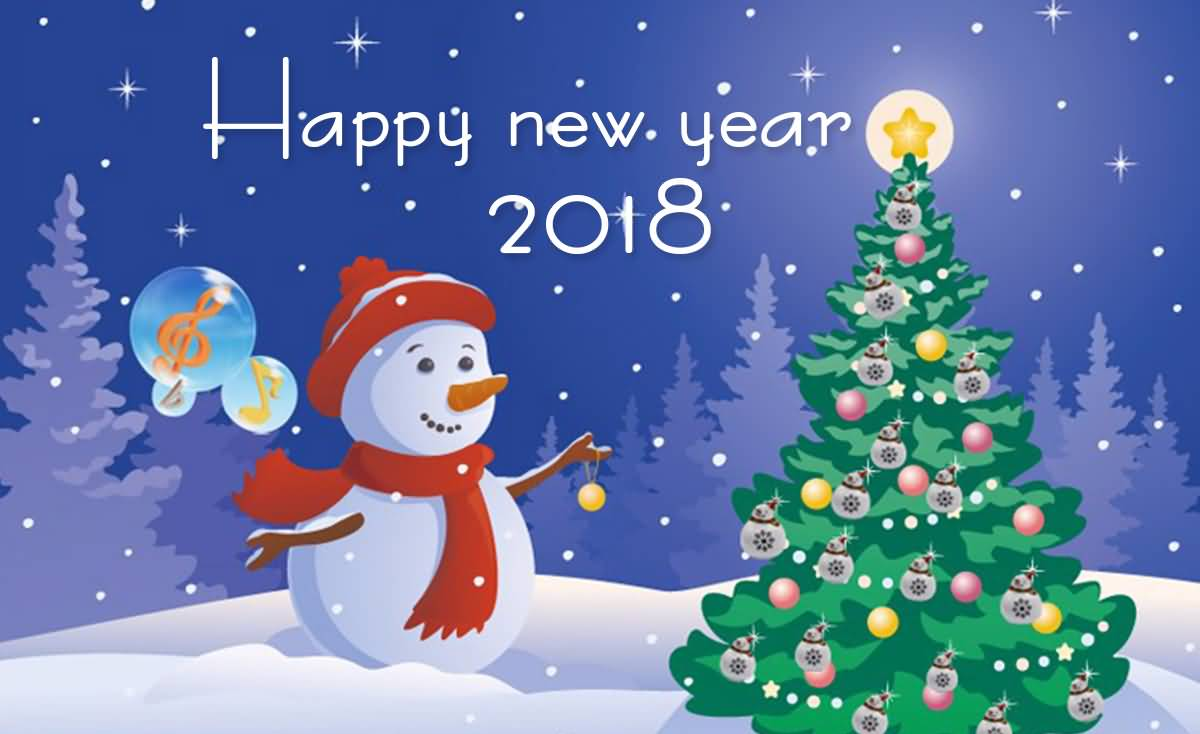 Happy New Year 2018 Cards Image Picture Photo Wallpaper 12