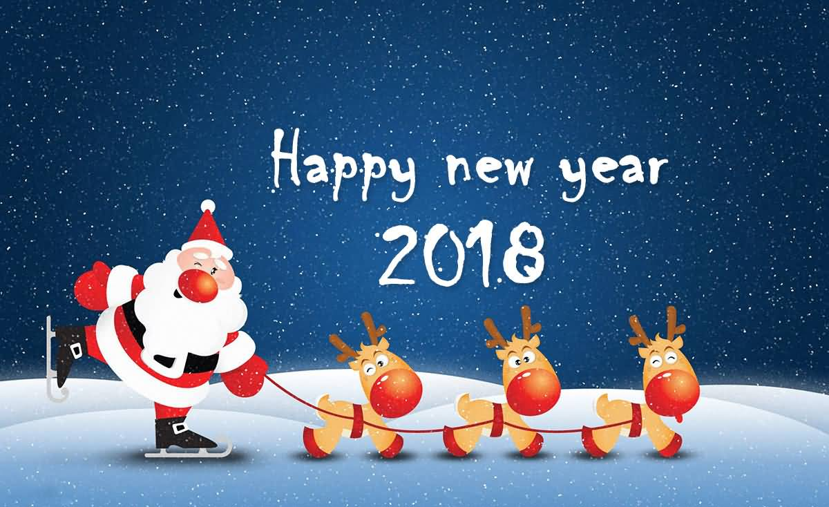 Happy New Year 2018 Cards Image Picture Photo Wallpaper 14